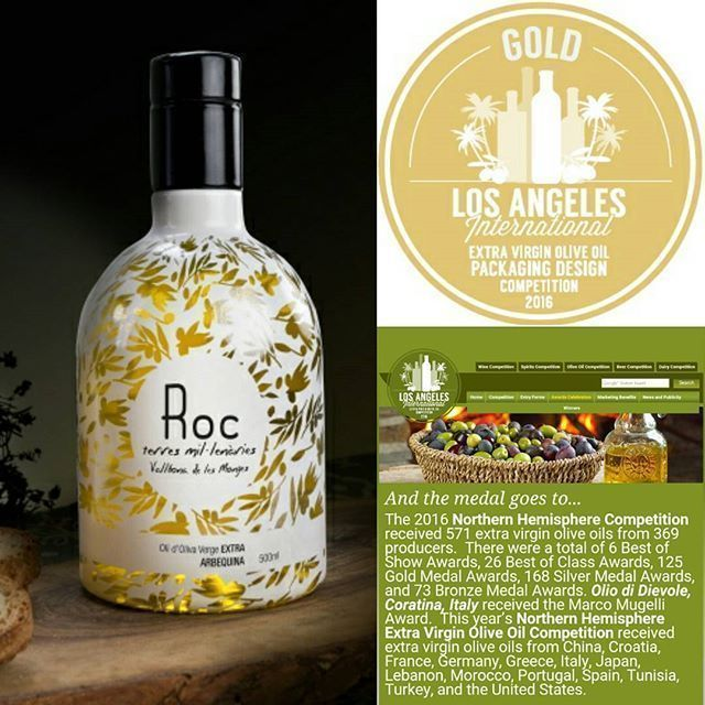 Medalla De Oro En Los Angeles International Olive Oil Competition
